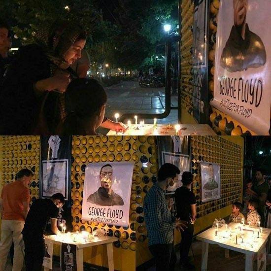 روشن کردن شمع در مشهد به یاد قتل فلوید سیاهپوست آمریکایی + جزئیات و عکس