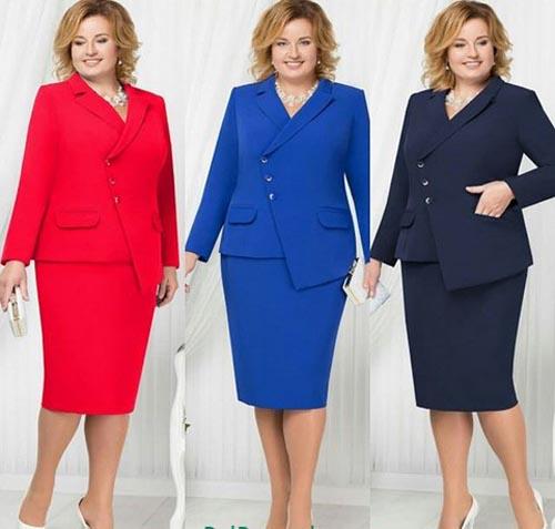 زیباترین مدلهای کت و دامن سایز بزرگ برای افراد چاق