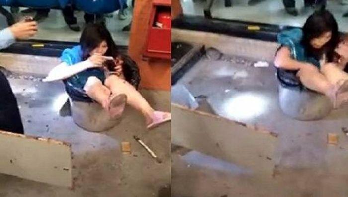 شوهر عصبانی زنش را در سطل آشغال انداخت ( عکس )