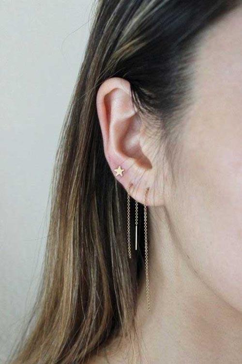 شیک ترین و جدیدترین مدل گوشواره بخیه ای (عکس)