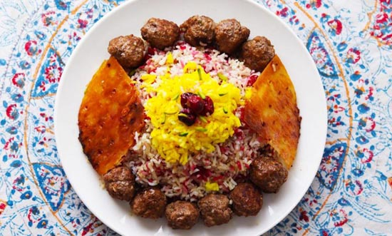 طرز تهیه قنبر پلو شیرازی مجلسی (عکس)