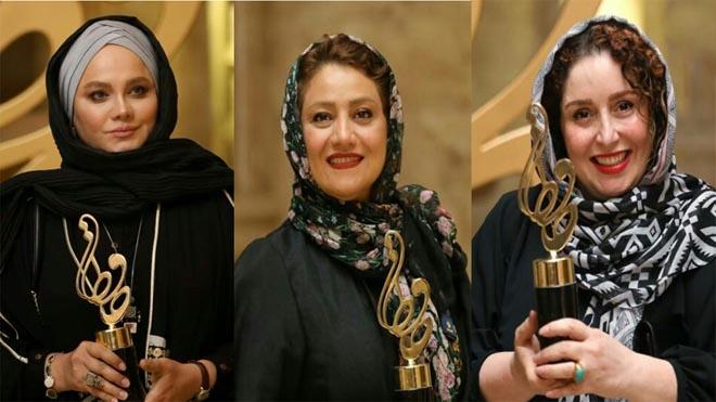 تیپ بازیگران و اسامی برگزیدگان جشن حافظ 99
