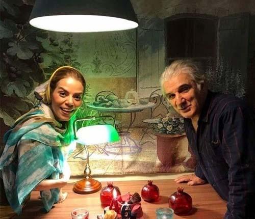 عکس مهدی هاشمی و همسر دومش در یک جشن تولد کرونایی