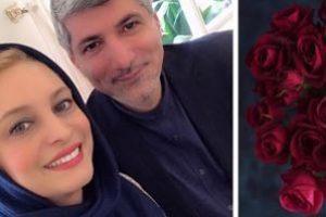 تولد 50 سالگی خانم بازیگر ایرانی در کنار شوهر دومش (عکس )
