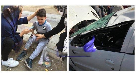 تصادف شدید همسر و پسر وریا غفوری کاپیتان استقلال (عکس)