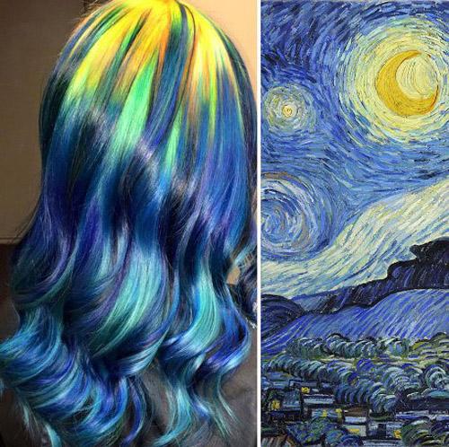 شهرت جهانی رنگ موهای این زن آرایشگر ( عکس )
