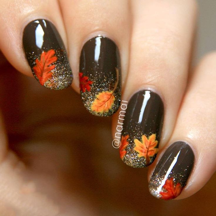 زیباترین مدلهای طراحی ناخن پاییزی ( عکس )