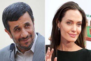 پیام عجیب احمدی نژاد به انجلینا جولی (عکس)