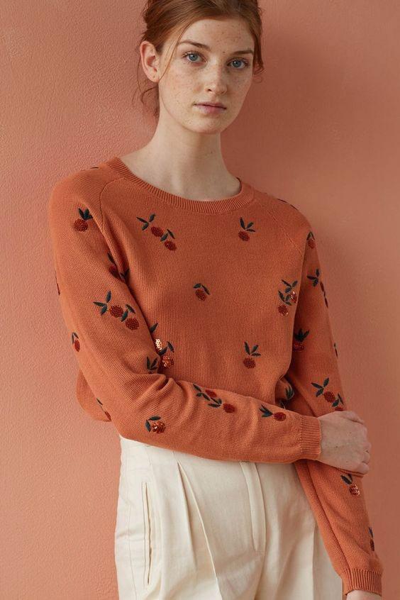 مدل های جدید لباس بافتنی زنانه آستین پفی و اور سایز