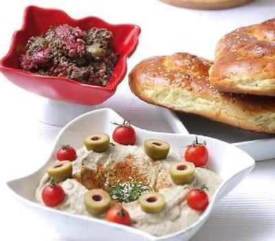 طرز تهیه مطبل غذای لبنانی با بادمجان ( عکس )