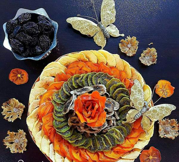 روش خشک کردن میوه برای شب یلدا