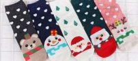 مدل جدید جوراب زنانه و مردانه با طرح کریسمس