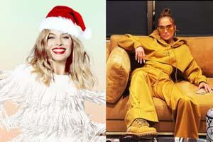 تیپ بازیگران و خواننده های هالیوودی در کریسمس 2021 ( عکس )