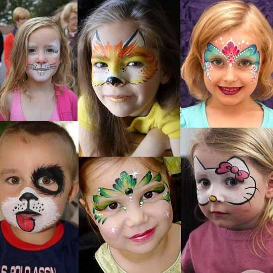 آموزش گریم کودک و مدلهای گریم کودکان ( عکس )