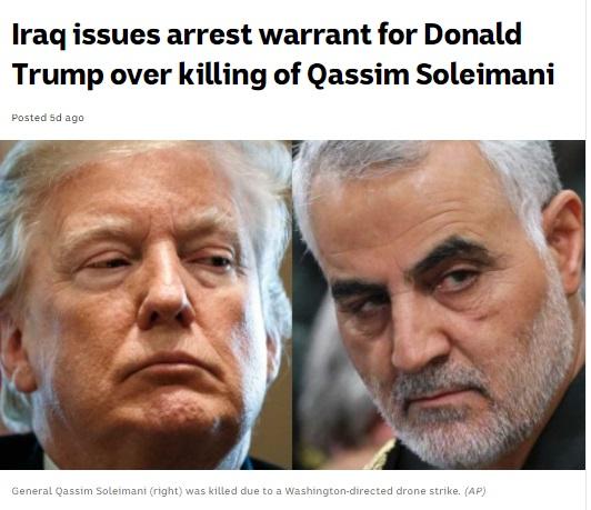 حکم بازداشت ترامپ صادر شد ( عکس )