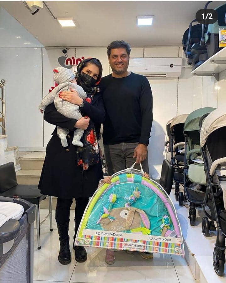سام درخشانی و همسر و دو فرزندش در حال خرید ( عکس و بیوگرافی )