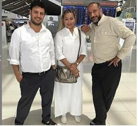 ژست ناجور امیر جعفری در کنار یک زنِ خارجی در فرودگاه ( عکس )