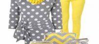جدیدترین مدلهای ست لباس زرد و خاکستری مد 1400