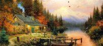 تصاویر زیبا از منظره برای مدل نقاشی رنگ و روغن