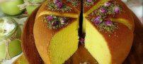 روش تهیه کیک زعفران و گلاب با ترفند های ساده
