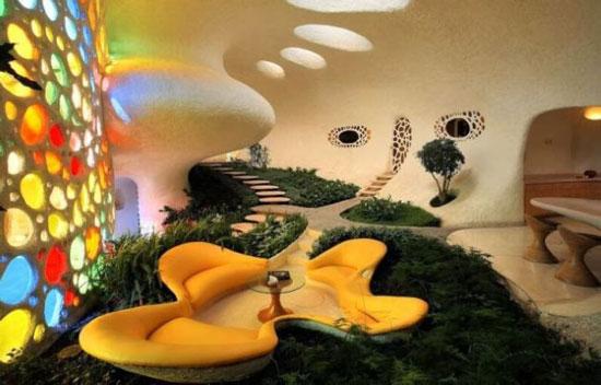 خانه ای زیبا و مدرن با معماری ای شبیه به حلزون + عکس
