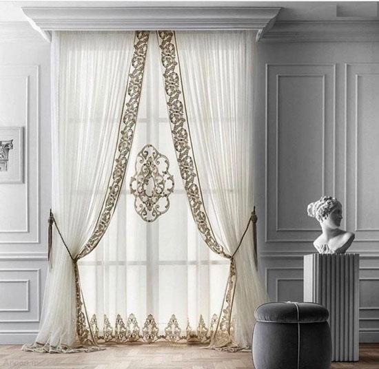 زیباترین و لاکچری ترین مدل های پرده سالن پذیرایی و اتاق