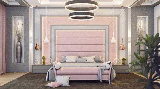 مدل های چیدمان و دکوراسیون اتاق خواب صورتی رنگ