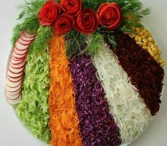جدیدترین مدل تزئین انواع سالاد فقط در ایران ناز