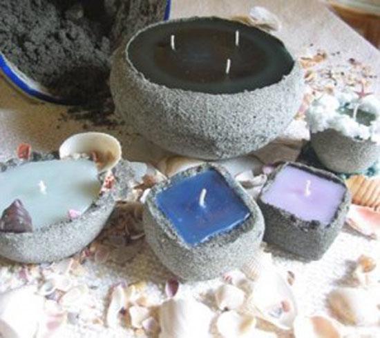 روش تهیه شمع شنی در خانه با ترفند های ساده