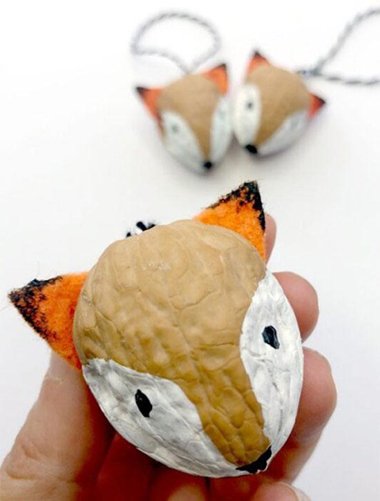 کاردستی های خلاقانه با پوست گردو برای کودکان + عکس