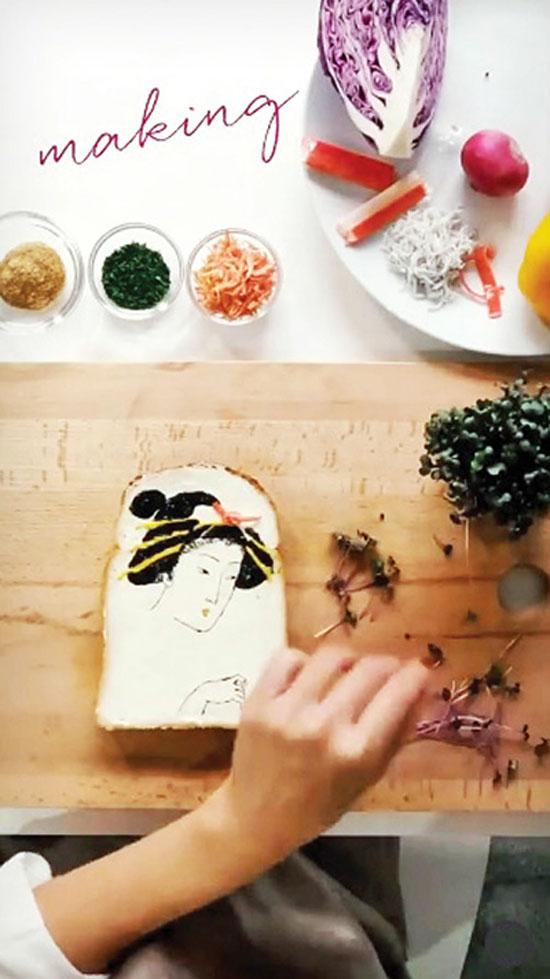 نان تست که تبدیل به بوم نقاشی برای این زن ژاپنی شده است