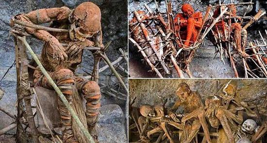 کفن و دفن های عجیب از تدفین در آب گرفته تا زنده سوزاندن زنهای بیوه + عکس