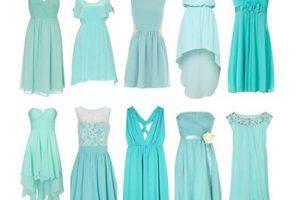 جدیدترین و شیک ترین مدل های لباس مجلسی کوتاه فیروزه ای رنگ