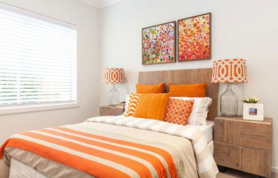 دکوراسین عالی و لاکچری با ترکیب رنگ نارنجی