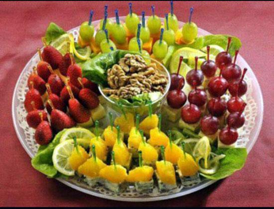 مدل های ساده و راحت تزئین میوه در منزل