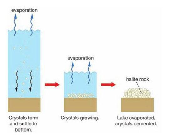 آشنایی با سنگ تبخیری و نحوه تشکیل سنگ تبخیری و انواع آن