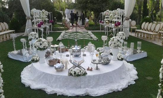 مدل های زیبا و لاکچری جایگاه عروس و داماد و سفره عقد