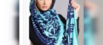 شیک ترین مدل های روسری های آبی