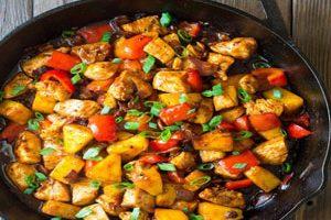 روش تهیه خوراک مرغ کاسیاتور با سبزیجات