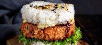 روش تهیه برگر برنج با گوشت چرخ کرده به روش ایران ناز