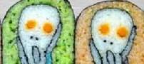 هنر نمایی های این خانم ژاپنی با سوشی