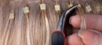 اکستنشن باعث ریزش شدید موها میشود