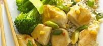 خوراک مرغ و برنج رژیمی برای افراد چاق