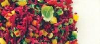 طرز تهیه تبوله چغندر رنگارنگ