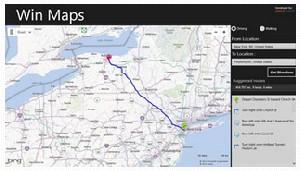 اپلیکیشن نقشه یا Maps در ویندوز 8