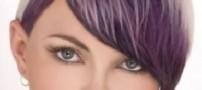 رنگ بنفش برای موهای شما