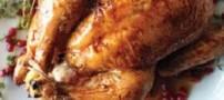 مرغ سوخاری با سس ترش انار