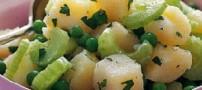 طرز تهیه سالاد گرم سیب زمینی