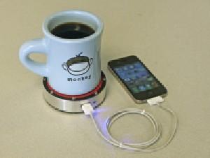 روشی جدید برای شارژ گوشی با حرارت لیوان چای
