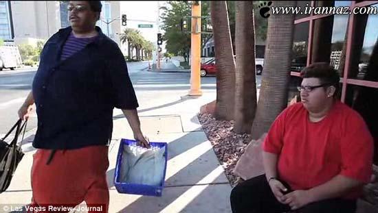 مردی بسیار عجیب با پایین تنه ای وحشتناک! (عکس)